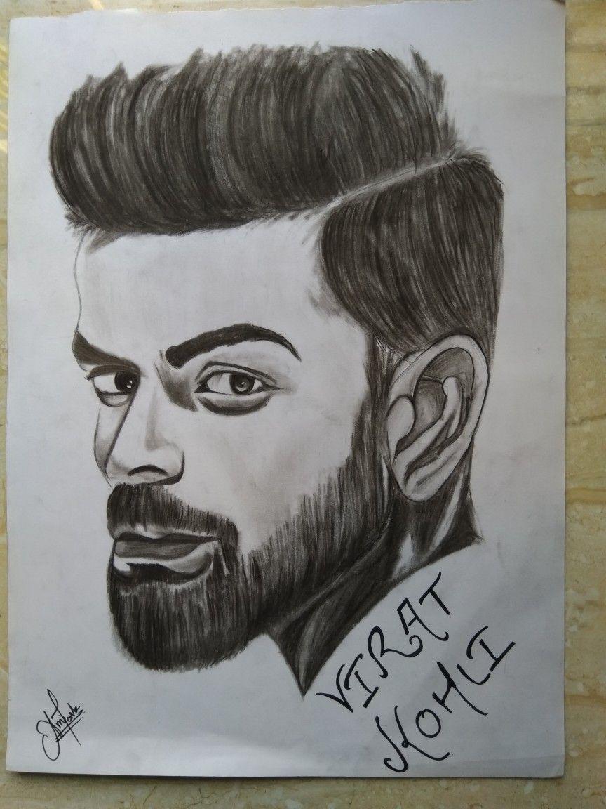 New sketch of virat kohli