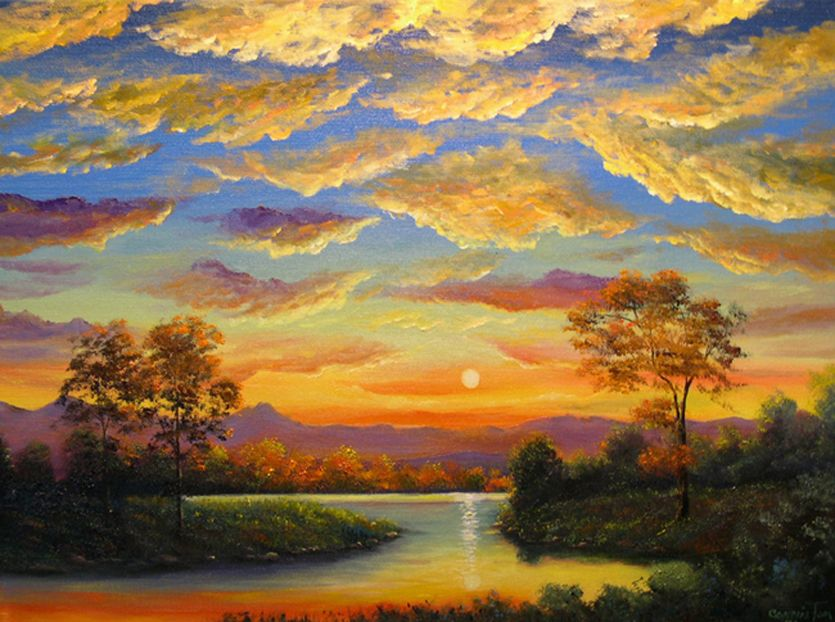 beautiful landscape paintings canvas beautiful