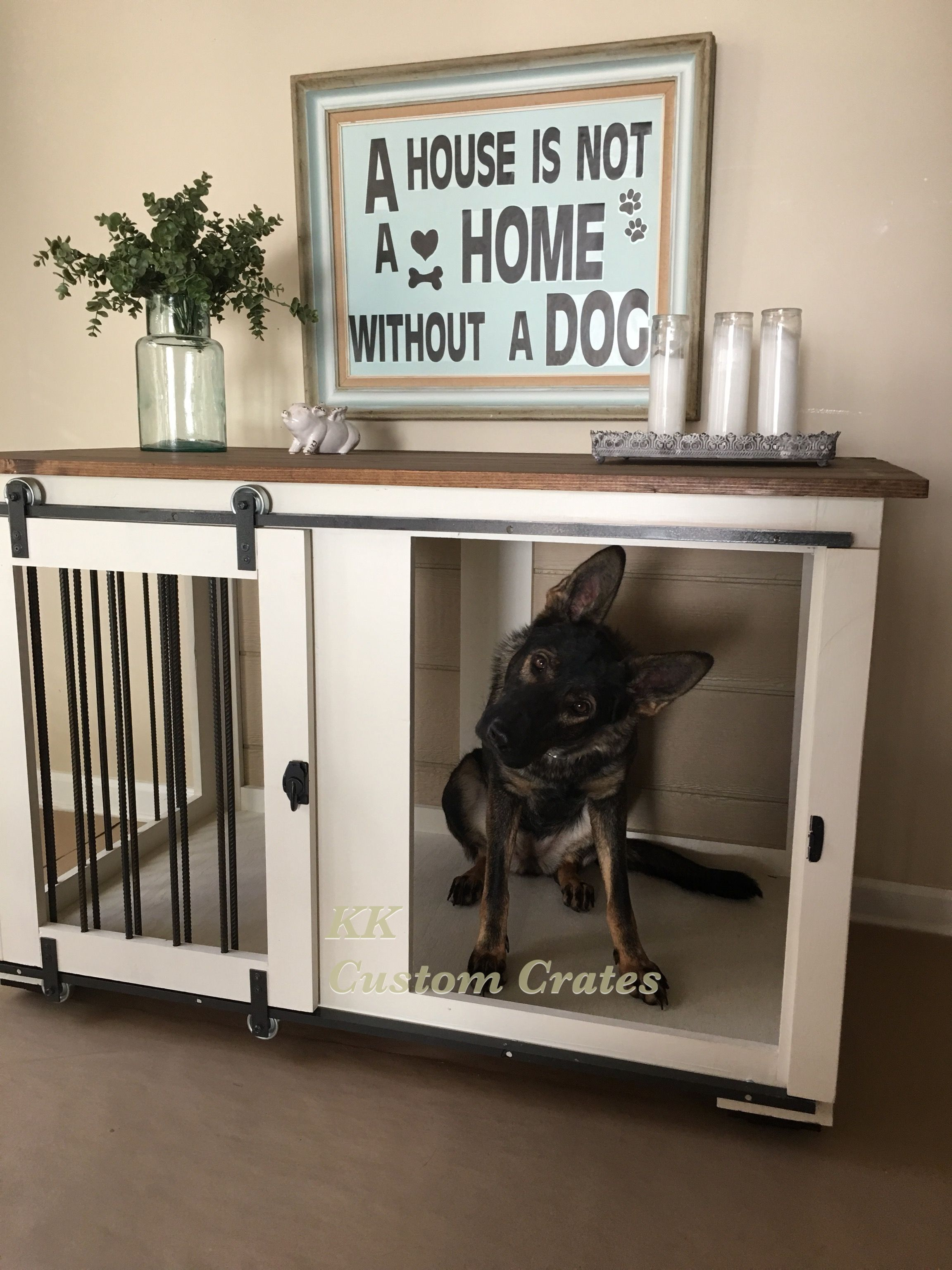 Kk Custom Crates Dogcratefurniture Dog Crate Furniture