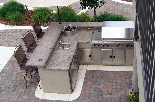 outdoor counter kochen im freien pinterest outdoor k che garten und im freien. Black Bedroom Furniture Sets. Home Design Ideas