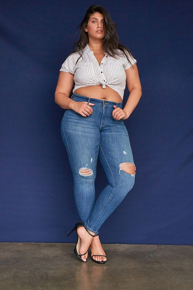 Plus Size Levis 310 Shaping Super Skinny Jeans  Outfits -5973