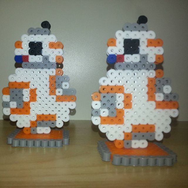 bb8 star wars perler beads by itsybitsypixel hama mod les pinterest perles hama perles. Black Bedroom Furniture Sets. Home Design Ideas