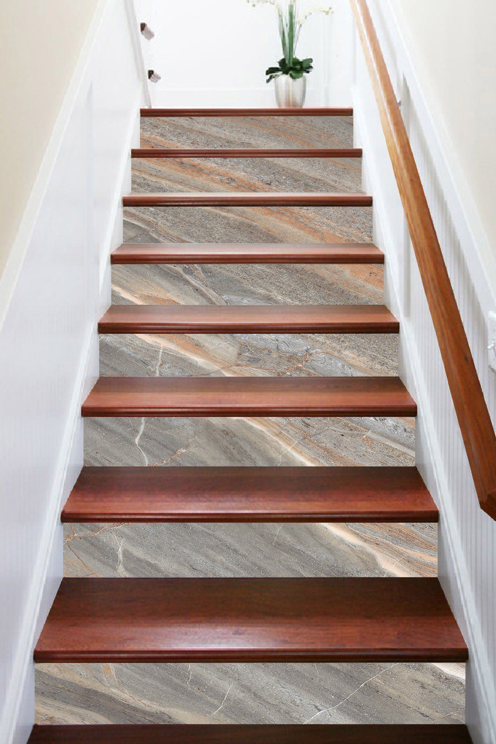 Best 3D Transparent Stone 5876 Marble Tile Texture Stair Risers With Images Stair Decor Stair Risers 640 x 480