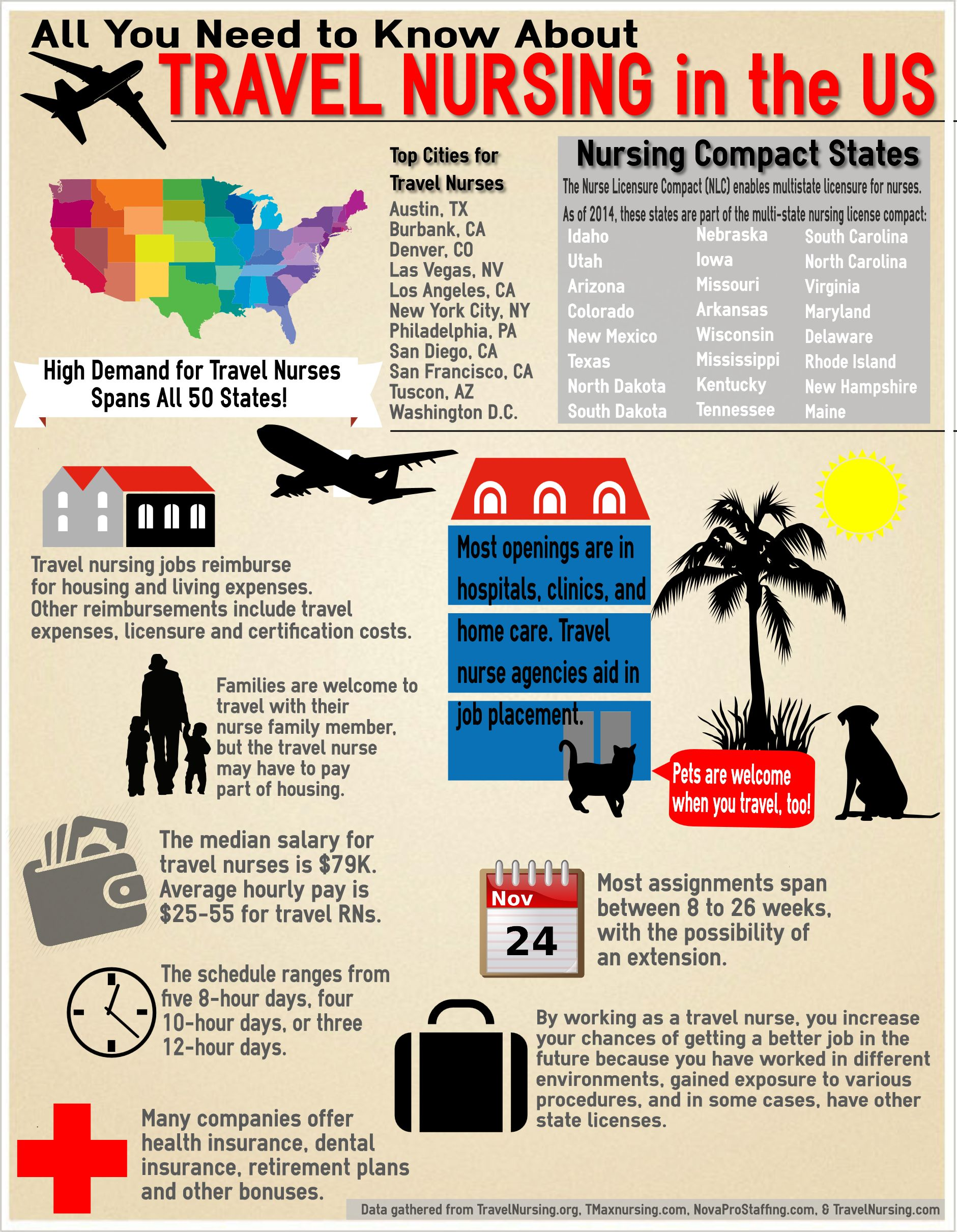 All You Need To Know About Travel Nursing In The Us Infographic