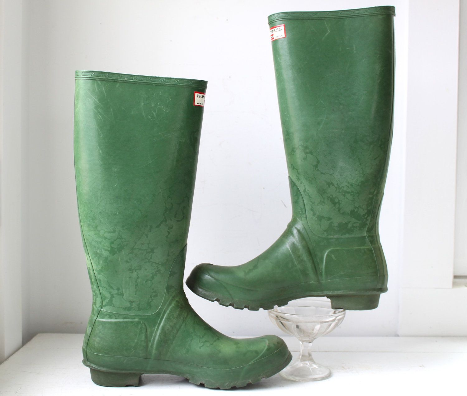 order hot-selling official compare price vintage 1960s Green Wellies. Women size 10. Hunter Uniroyal ...