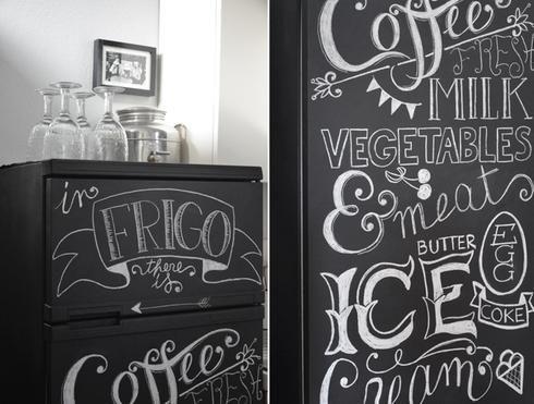 Peinture Effet Tableau 17 Facons D Utiliser De La Peinture A Tableau Noir Chalkboard Designs Chalkboard Quote Art Kitchen Interior