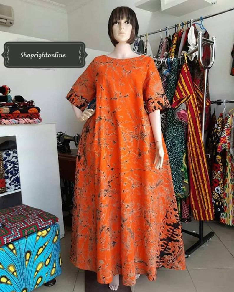 Ankara printed long dresses / kitenge long dress /
