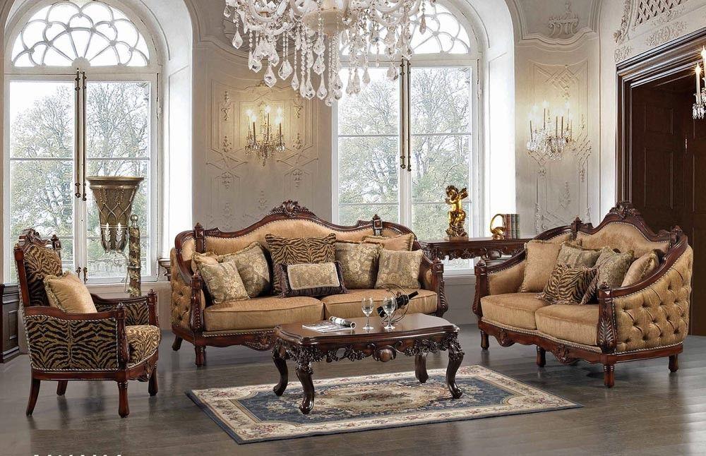 Formal Living Room Set Interior Design Rectangular Century Victorian