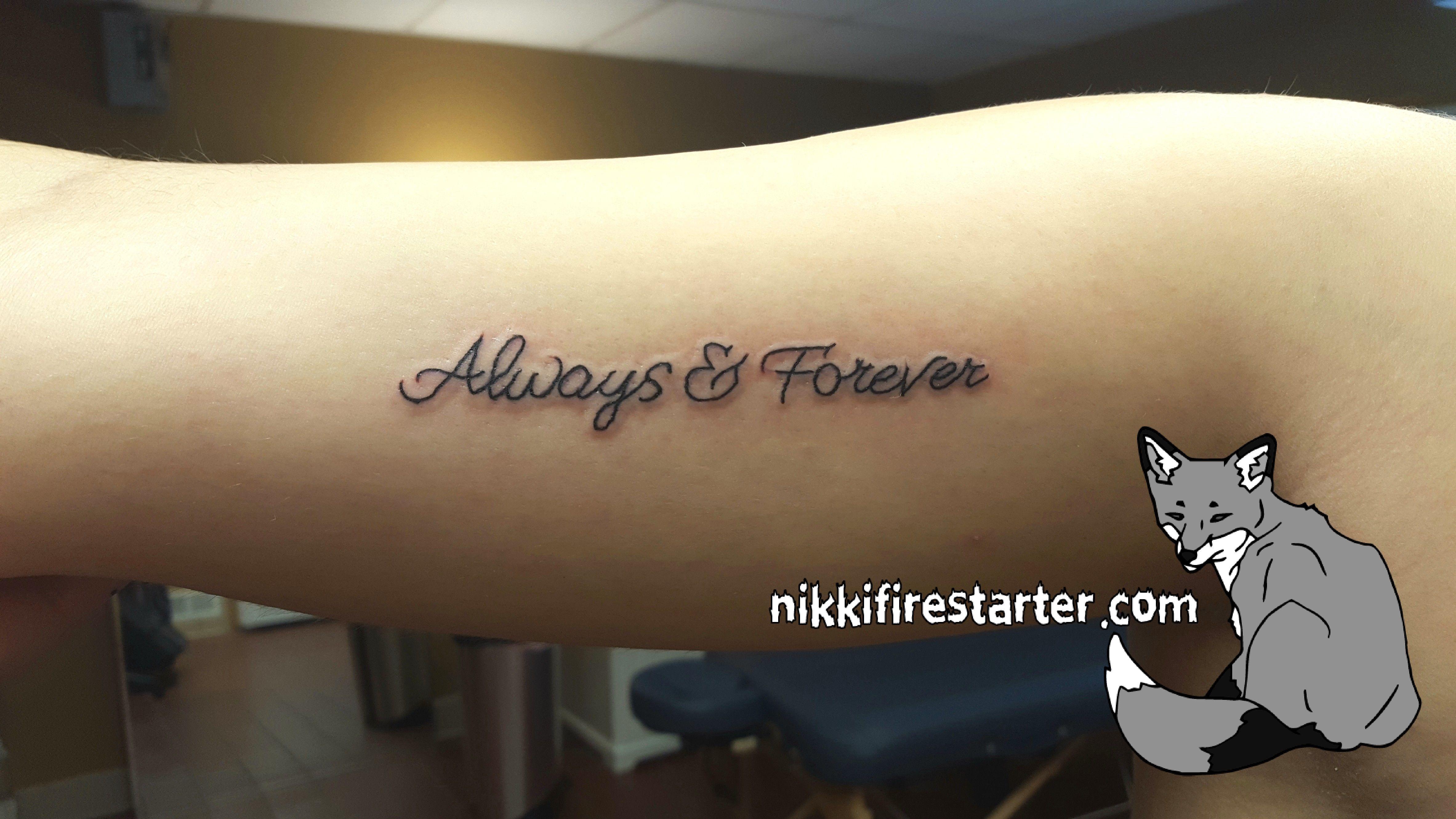 Always & Forever | Bicep tattoo, Arm tattoo, Tattoo apprentice