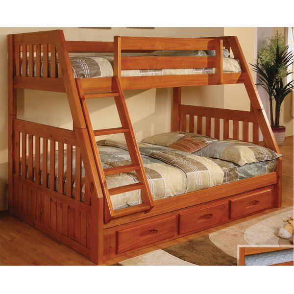 Trumble Twin Over Full Bunk Bed with Drawers in 2019