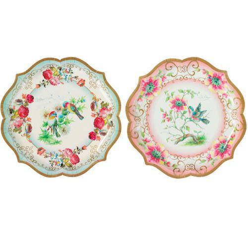 4 pretty paper serving platters for vintage tea party decorative paper plates ebay - Decorative Paper Plates