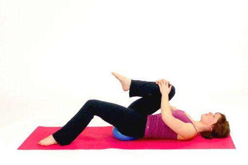 Exercise: Hip Flexor Stretch with the Pilates Ball [555] - Fitness.com