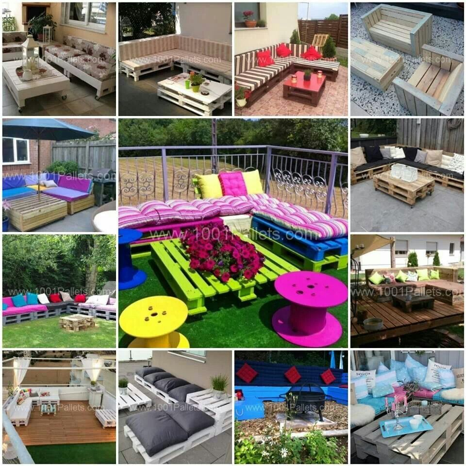 pallet ideas garten pinterest palletten terrassenm bel und balkon. Black Bedroom Furniture Sets. Home Design Ideas