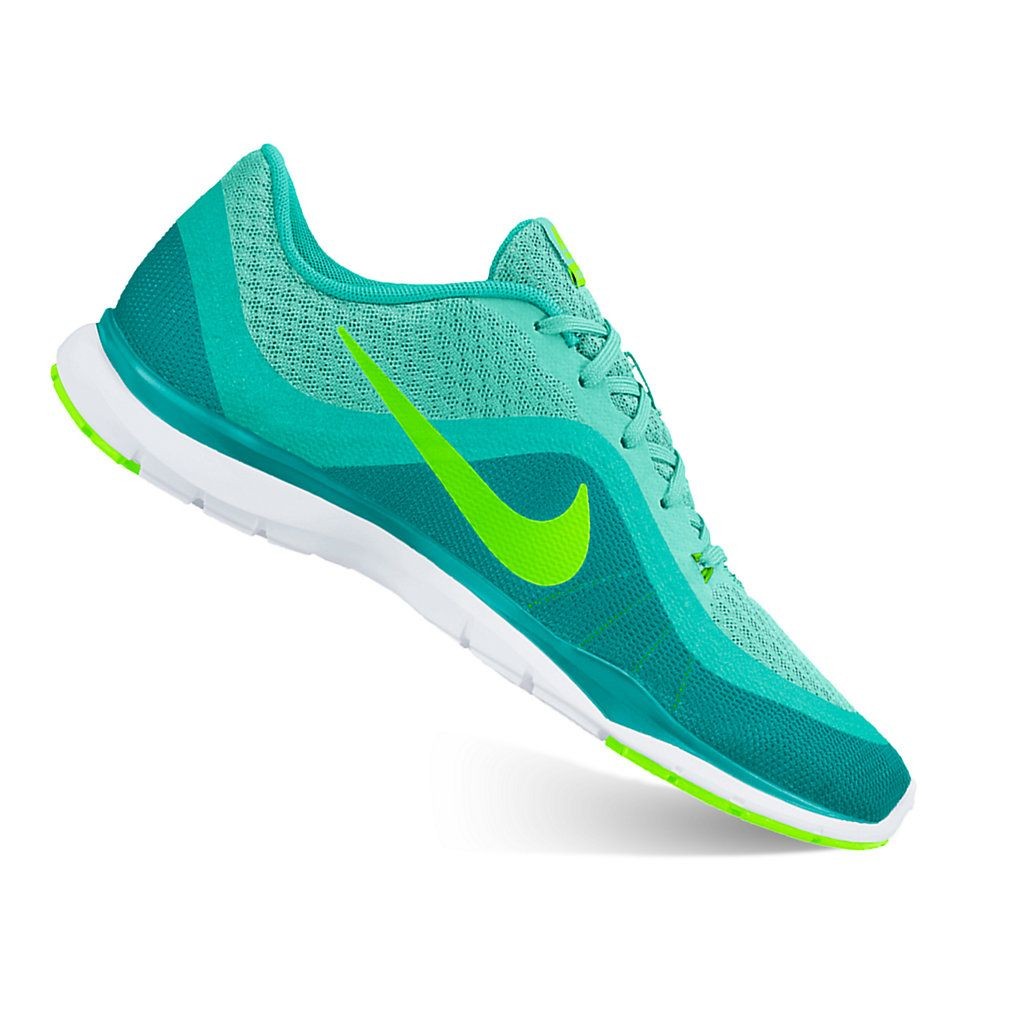 00b388c566fb Nike Flex Trainer 6 Women s Cross-Training Shoes Gray green glow-size 8