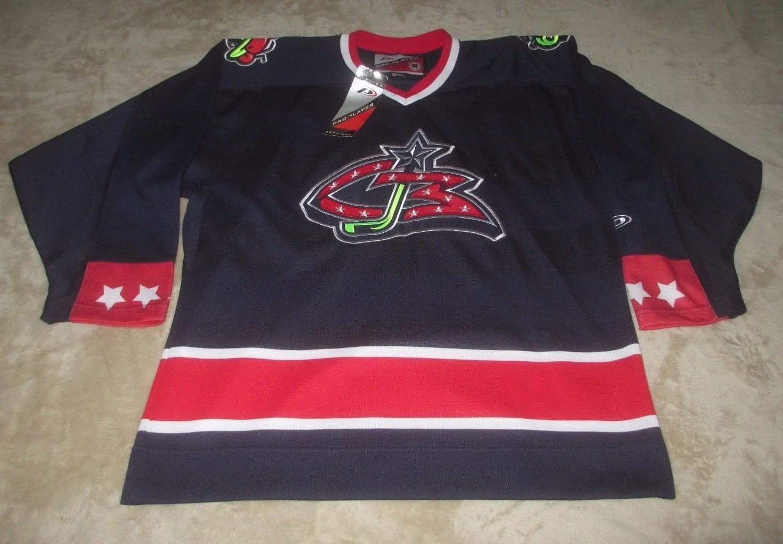 vintage COLUMBUS BLUE JACKETS Pro Player NHL Replica Hockey Jersey Men s  Med NWT (eBay Link 1eac4d6c4