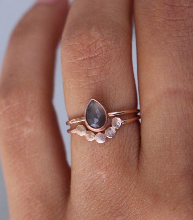 Set Verlobungsringe 585 Rosegold Ring Jewel And Costume Jewelry