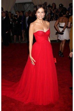 Celebrity Dresses Camilla Belle Red Prom Dress Art's 2010 Costume ...