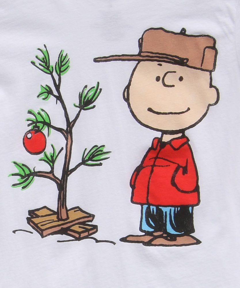 Charley Brown Christmas Tree: Womens Charlie Brown Christmas Tree T-Shirt Logo