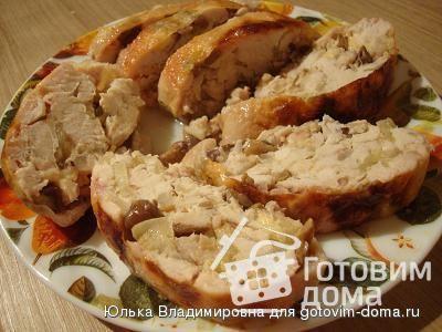 Фаршированный окорочок с сыром рецепт с фото