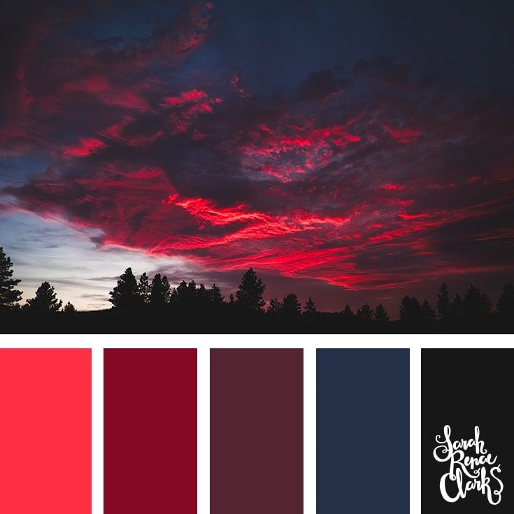 25 Color Palettes Inspired by Spectacular Skies & PANTONE Classic Blue