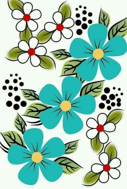 Flor Verde Dibujos Blumen Bilder Malvorlagen Y Blumen