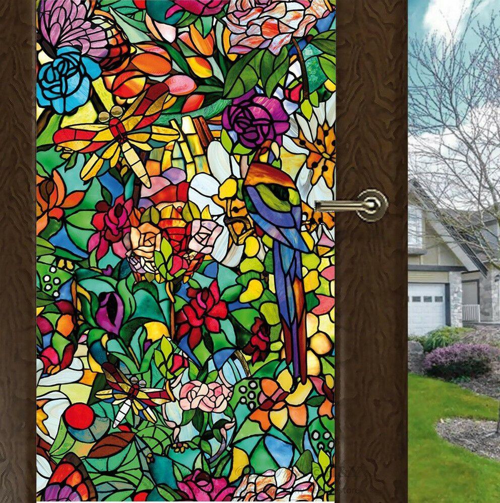 Details about Flower Blossom Window Film Print Sticker