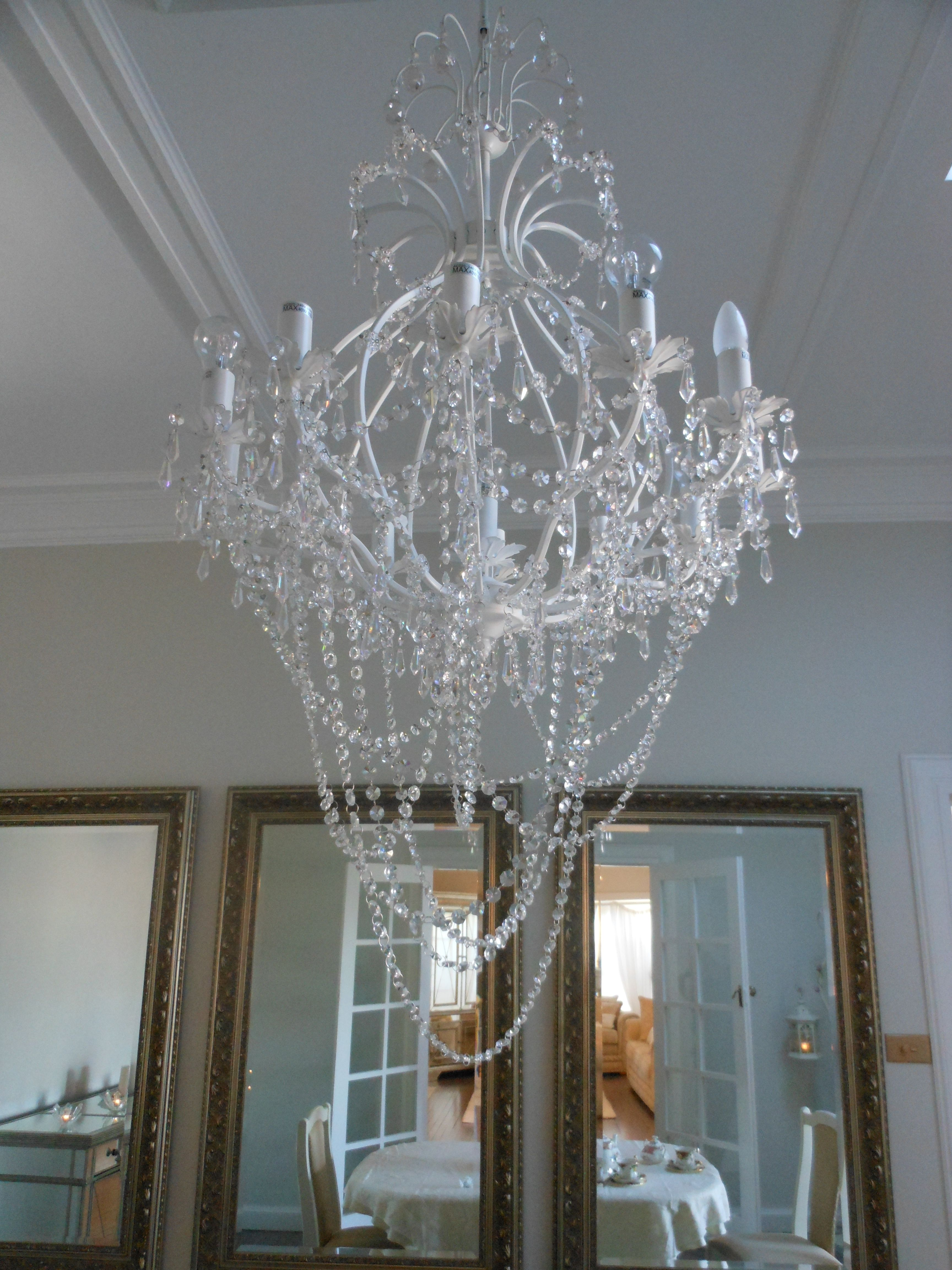 I Like The Loose Strands Of Crystals Lighting The Way - Loose chandelier crystals