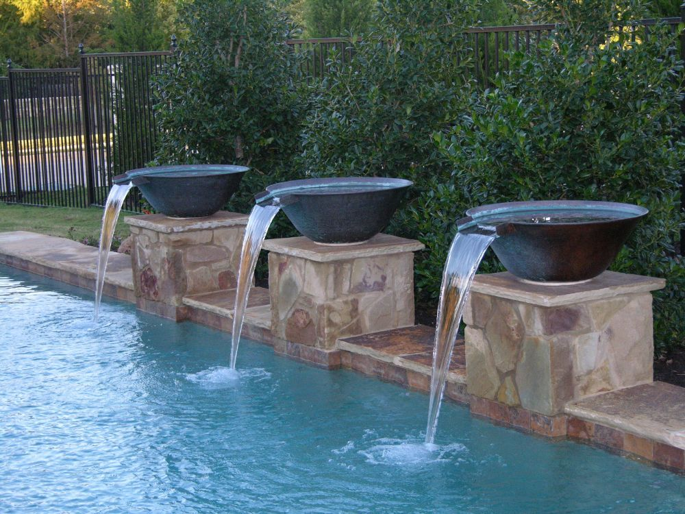 Water Bowls Pool Water Features Pool Fountain Water Features