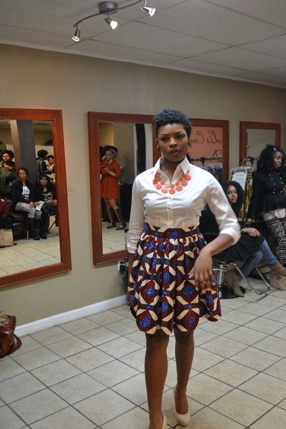 Blue Diamond Belle Skirt 100 Ankara African Wax by LiLiCreations, ~African fashion, Ankara, kitenge, African women dresses, African prints, Braids, Nigerian wedding, Ghanaian fashion, African wedding ~DKK