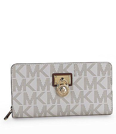 915cb2eda5fe ... where to buy michael michael kors hamilton large logo ziparound wallet  dillards aade1 f107c
