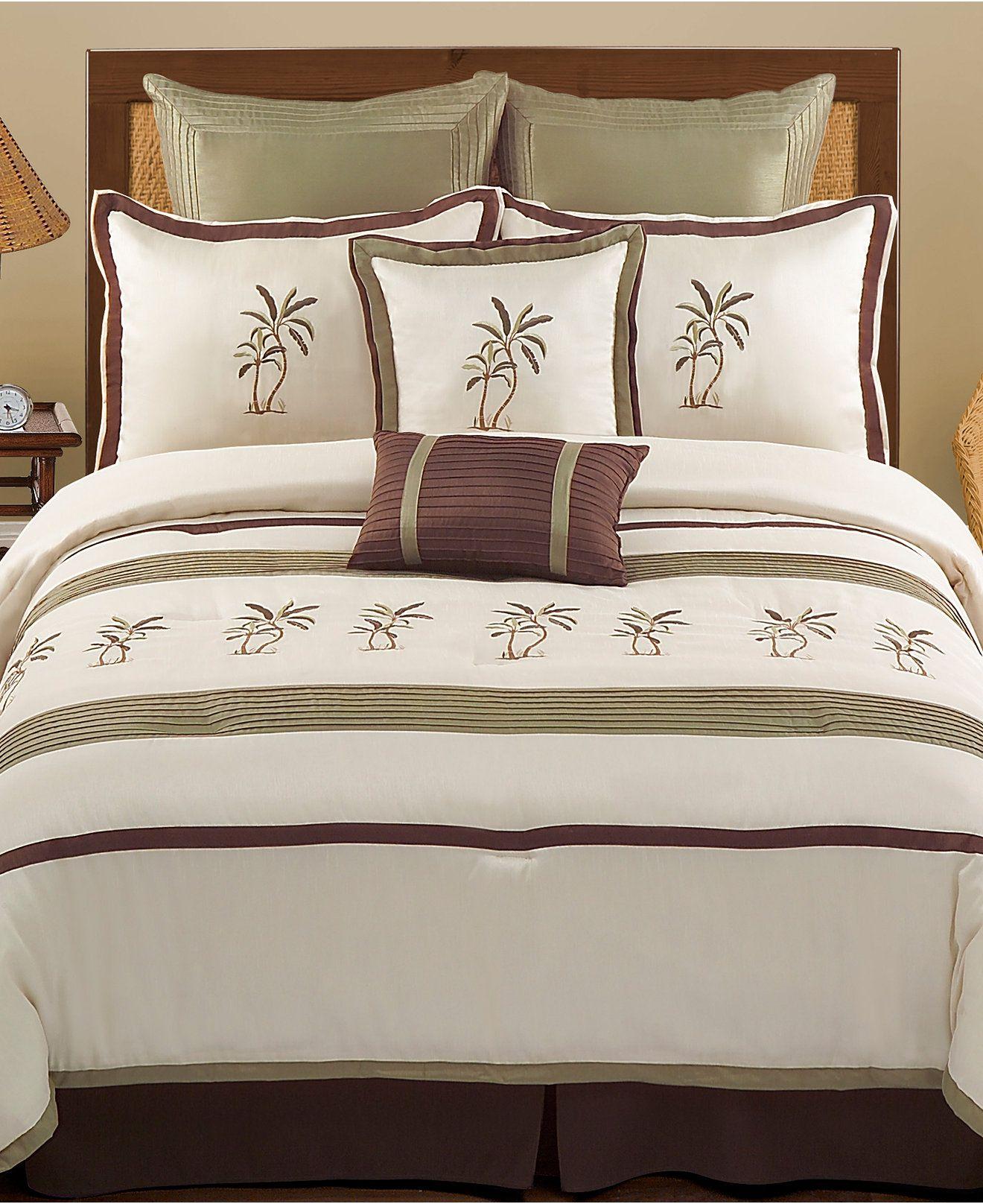 Montego Bay 8 Piece Queen Comforter Set Bed In A Bag