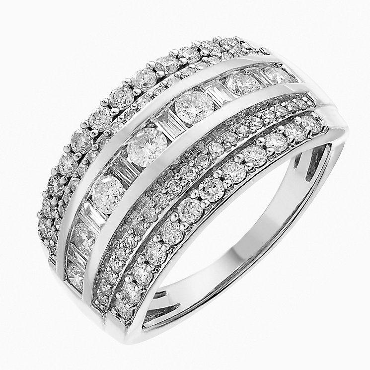 7ab22306b22d4f 18 carat white gold criss cross ring 1 carat uk - Google Search ...