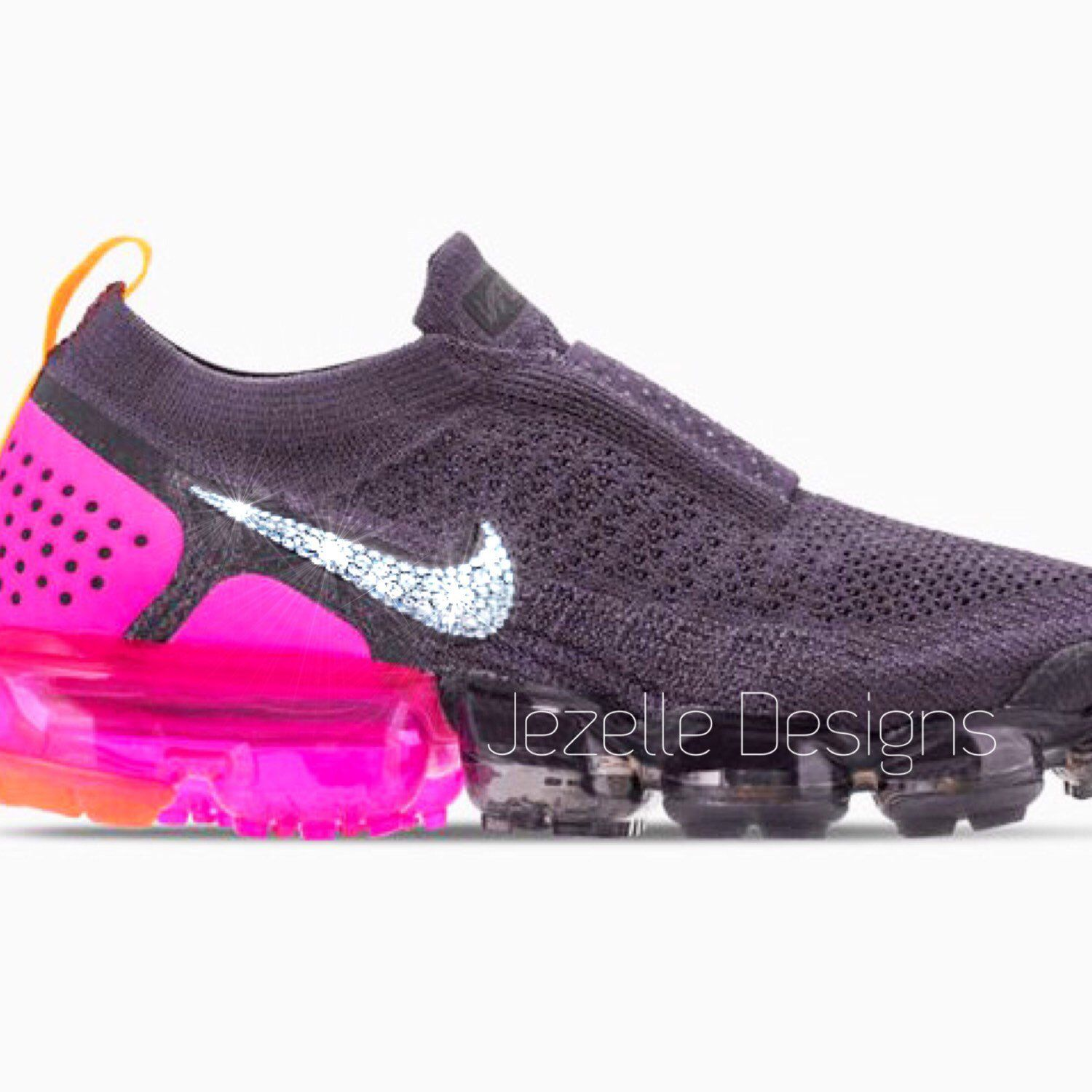 The shoes of your dreams! 😍 Swarovski Crystal Custom Hand Jeweled NIKE  VaporMax MOC2 by Jezelle Designs! 🤩💎 workoutmotivation 696079fc2