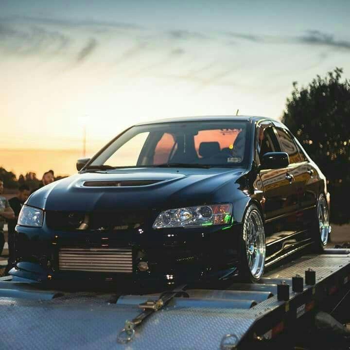 Black mitsubishi Evo 9 | Evo | Subaru impreza, Mitsubishi lancer