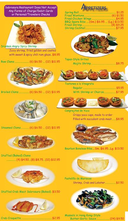 Appetizers sabrosura sabrosura sabrosura2 restaurant for Akina japanese cuisine menu
