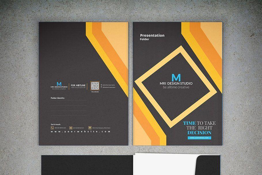 Ad: Presentation Folder Template by MRI STUDIO on Creative Market. Make your pro...