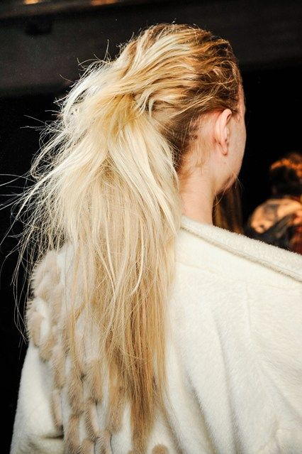 Sleek and textured hair at Missoni AW13 show
