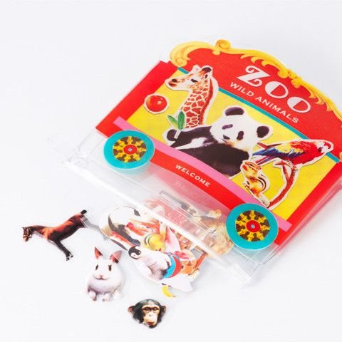 Zoo flake sticker – pomme