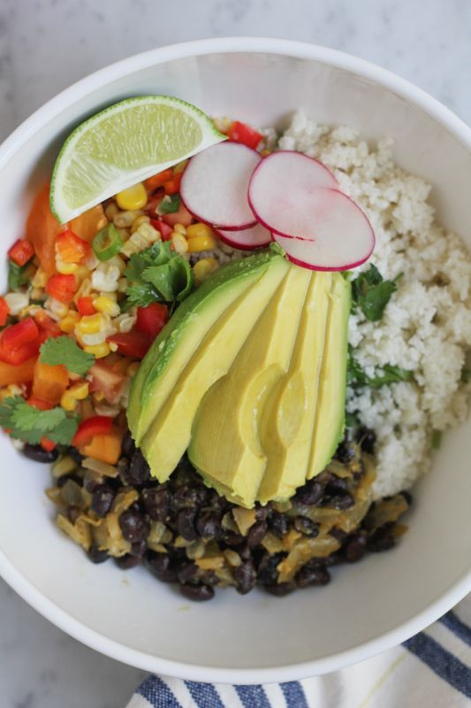 Mexican Cauliflower Rice Bowls Recipe Whole Food Recipes Low Carb Vegan Vegetarian Recipes