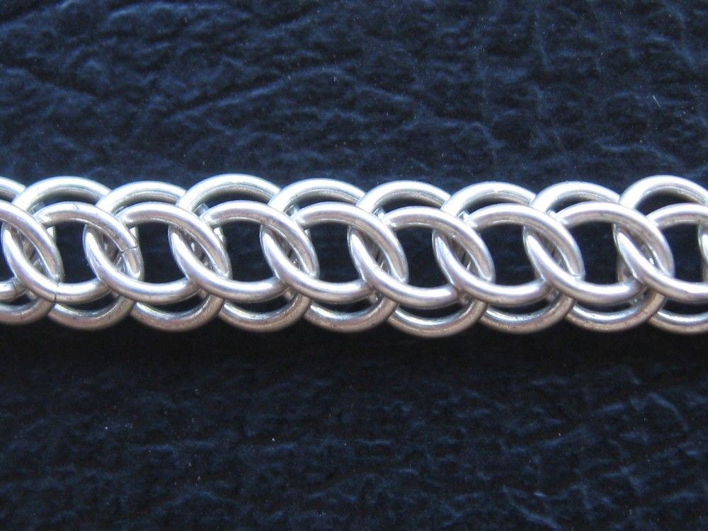 Half persian 3 in 1 tutorial chainmaille pinterest - Fabrication cotte de maille ...