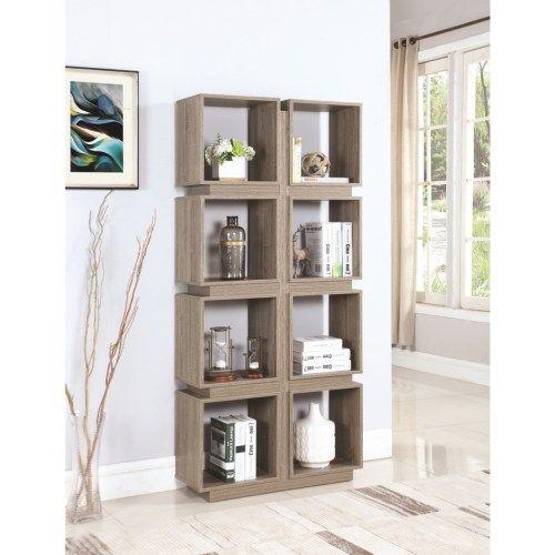 Coaster Bookcases 8 Shelf Geometric Bookcase
