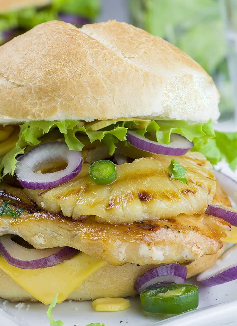 pineapple grilled chicken sandwich | recipe