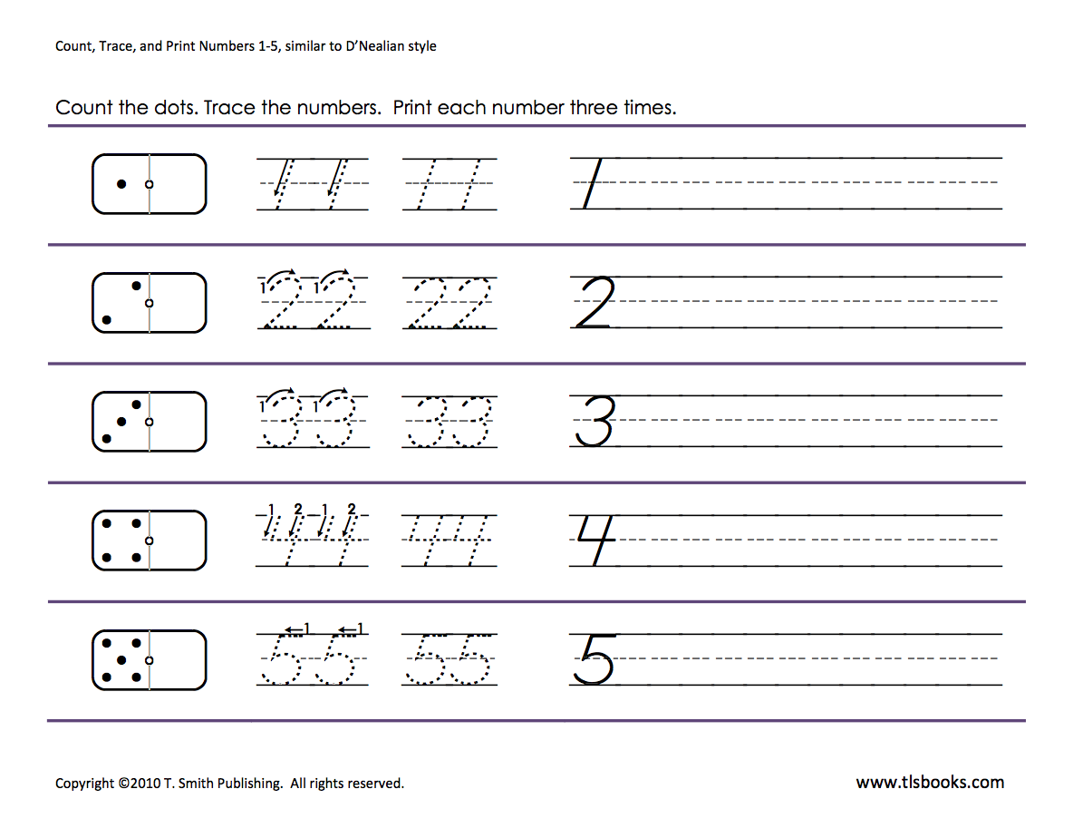 Numbers tracing: 1-5 : Homeschooling: Number Tracing ...