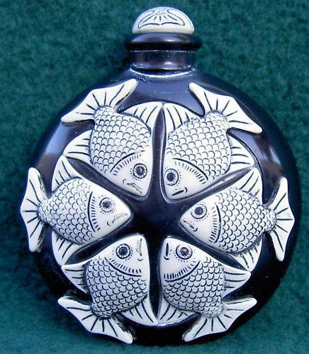 Adam Binder - Black Marble Fish Perfume Bottle