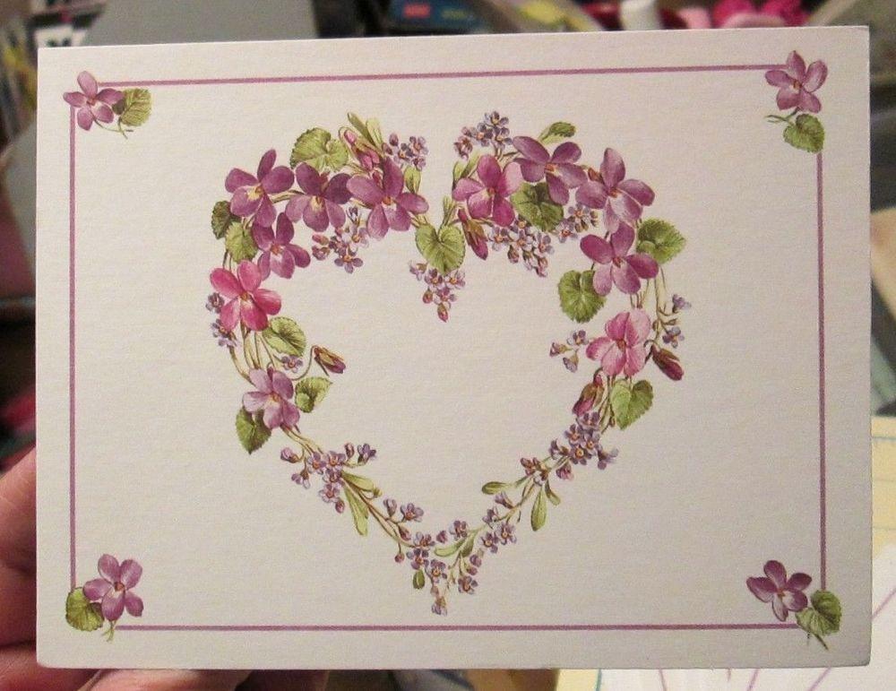 16 american greetings ann marie trechslin violet heart wreath blank 16 american greetings ann marie trechslin violet heart wreath blank note cards m4hsunfo