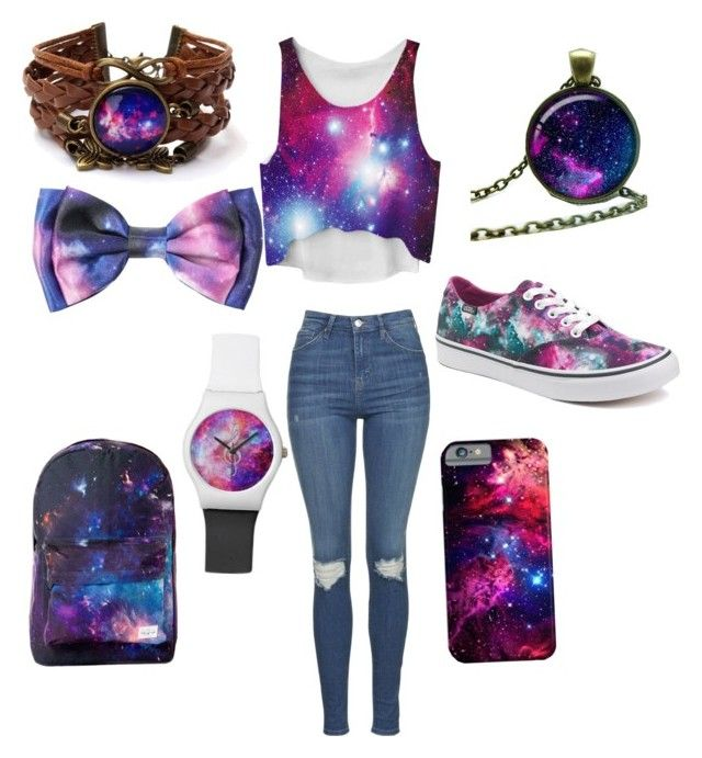 """""""Galaxy girl"""" by a-ms-valdez on Polyvore featuring Topshop and Vans"""