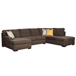 Raphael Contemporary Sectional Sofa With Laf Corner Storage Chaise By Broyhill Furniture Becker World Twin Cities Minneapolis