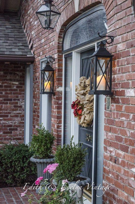 Faux Gas Lanterns Edith Evelyn Gas Lanterns Outside Lights On House Porch Lanterns