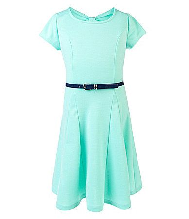 IN Girl 716 BowBack Skater Dress #Dillards- on of the father daughter dress picks