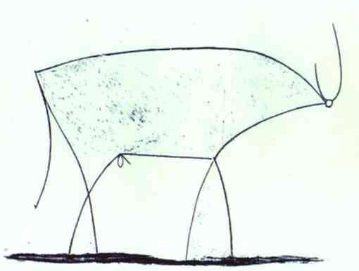 Picasso, Pablo - The Bull. State XI-I did a series of drawings with Alzhiemer's patients, copying this drawing and a few others...they did really well!  Ran a day care for dementia patients for a few years.  One of the best jobs I ever had!  We did sooo much art!!!